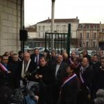 Rassemblement élus train 2 décembre 2014